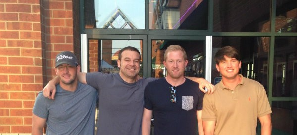 Ross Brooks (left), Bryan Clayton, Zach Hendrix and Gene Caballero co-founded GreenPal in Nashville in 2013. - PHOTO COURTESY OF GINNY CABALLERO