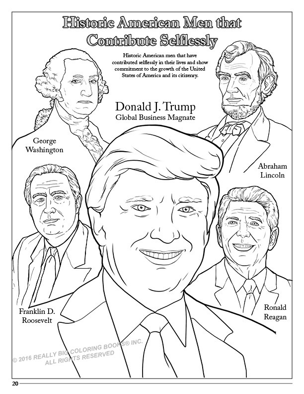 free presidents coloring pages | New Trump Coloring Book Lets You Find the Perfect Crayon ...