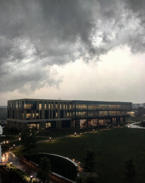 Maryville University was one location that lost power during the storm on Wednesday. - PHOTO COURTESY OF INSTAGRAM / MARYVILLEU