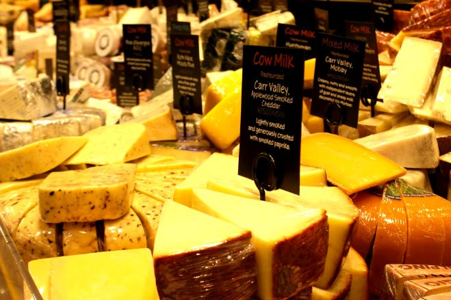 Shown here, the new store's cheese section. Whole Foods will provide a staff of wine and cheese pairing experts to help customers make selections. - KAVAHN MANSOURI