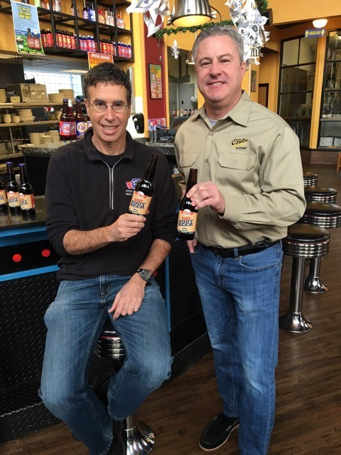 Fitz's co-founder and owner Michael Alter (left) with Jim Gorczyca, CEO and president of O'Fallon Brewery - PHOTO COURTESY OF O'FALLON BREWING