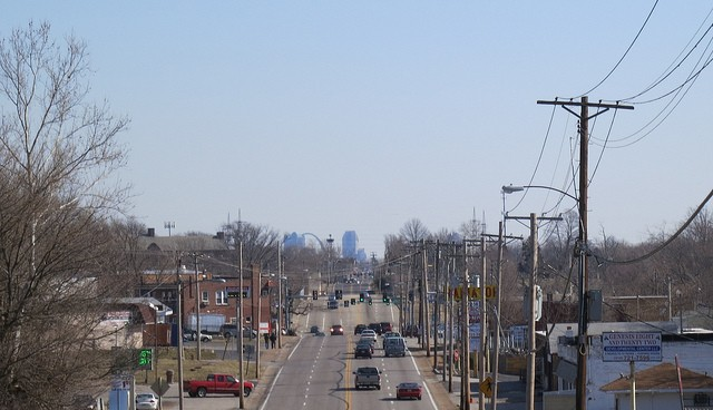 The view from Charles Rock Road heading into downtown. A number of north county suburbs are among the hottest real estate markets. - PHOTO COURTESY OF FLICKER/PAUL SABLEMAN