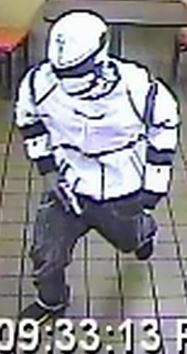 Dressed like Stormtrooper, this guy robbed a Church's Chicken, police say. - IMAGE VIA ST. LOUIS METROPOLITAN POLICE