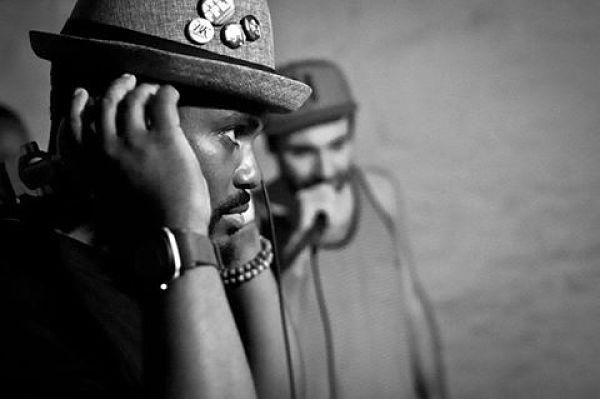 Bump & Hustle resident DJs Nappy DJ Needles and DJ MAKossa. - PHOTO BY ERNESTO PACHECO