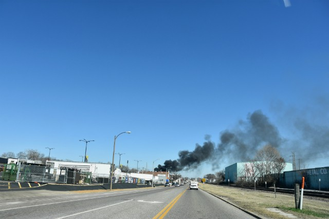 The smoke from the burning cars was visible for miles. - DOYLE MURPHY