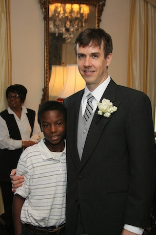 Cleveland with the author at his wedding, in 2009,