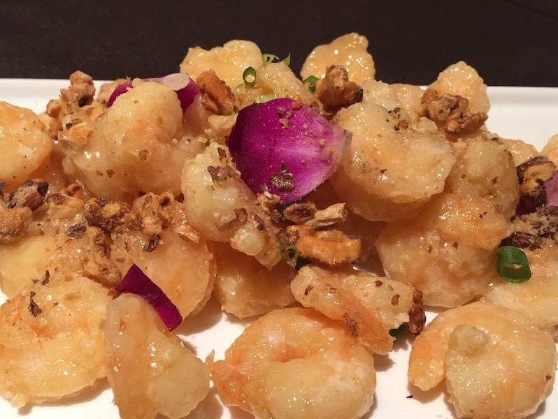 Honey walnut shrimp with creamy honey mayo and candied walnuts. - PHOTO BY KEVIN KORINEK