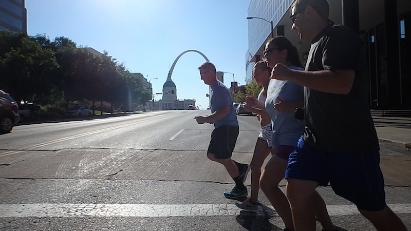 Tour participants see STL while keeping their heart rates up. - COURTESY OF ST. LOUIS RUNNING TOURS
