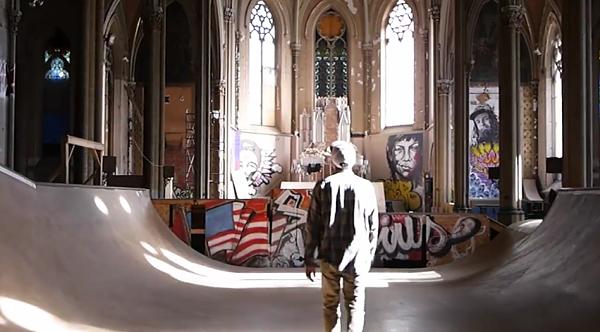 How many cities have churches as cool as Sk8 Liborius? - SCREENSHOT VIA DANIEL FLORIAN