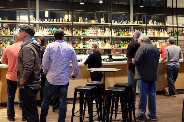 Delmar Hall's spacious bar. - PHOTO BY HOLLY RAVAZZOLO
