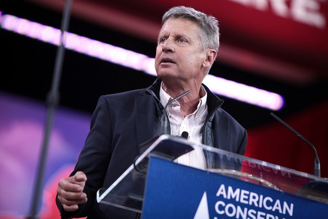 Gary Johnson isn't happy about being excluded from the presidential debate in St. Louis on October 9. - PHOTO COURTESY OF FLICKR/GAGE SKIDMORE