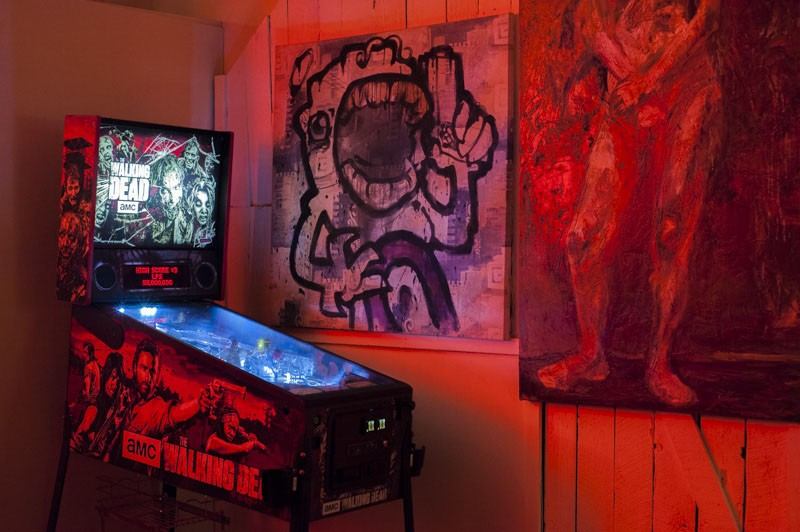 Play the Walking Dead pinball, or check out some local art. - PHOTO BY KELLY GLUECK