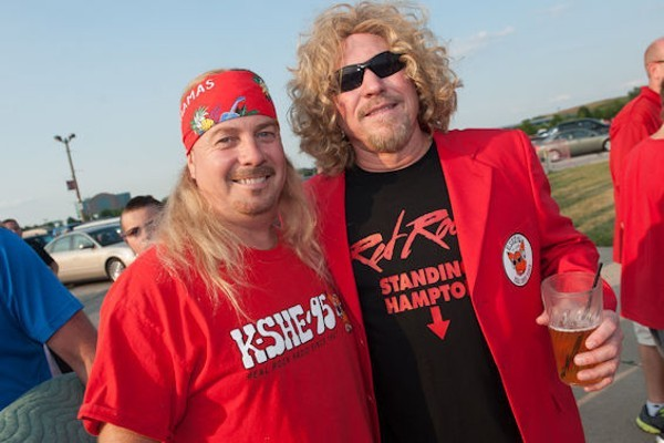 Two KSHE fans of varying notoriety. - PHOTO BY JON GITCHOFF