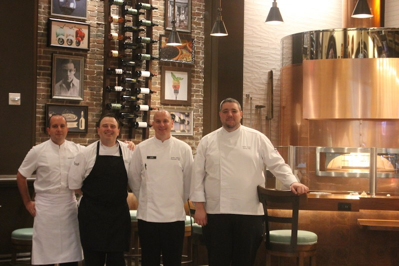 From left: River City Executive Sous Chef Matthew Eaton, Cibare Chef de Cuisine Pierpaolo Pittia, - River City Executive Chef Joshua Schlink and River City Executive Pastry Chef David Laufer. - PHOTO BY SARAH FENSKE