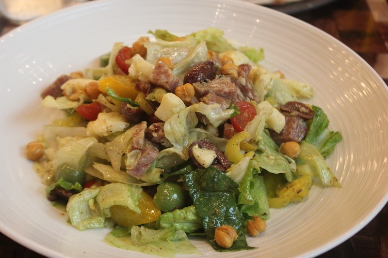Cibare's Italian salad is studded with salami, chickpeas, pepperoncini and provolone. - PHOTO BY SARAH FENSKE