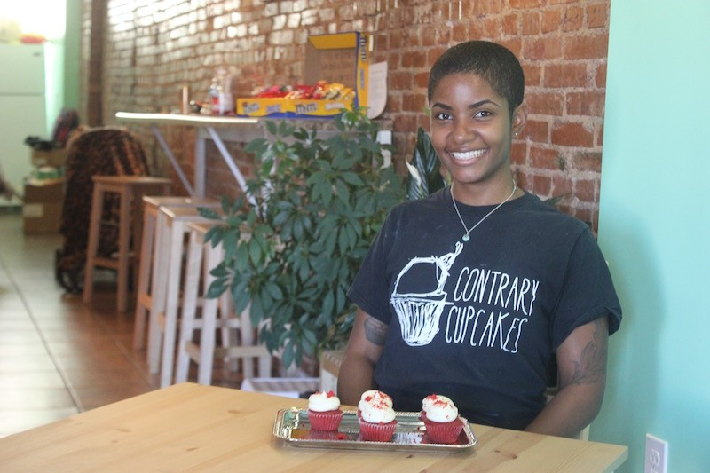 Danielle Anderson, founder of Contrary Cupcakes. - PHOTO BY SARAH FENSKE