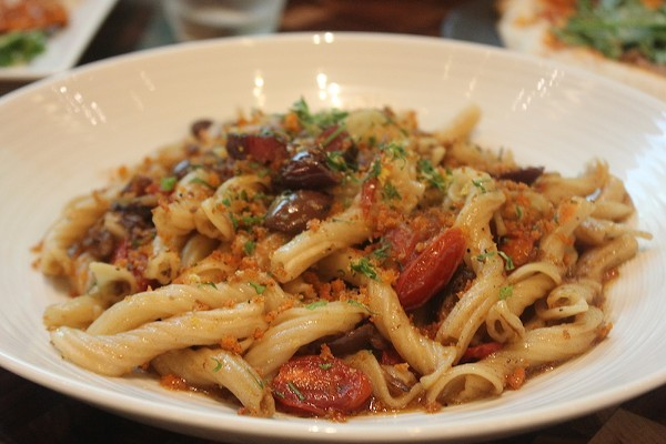 The strozzapreti at Cibare — worth a visit to south county. - PHOTO BY SARAH FENSKE