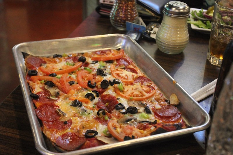 St. Louis-style pizza comes in a pan. - PHOTO BY SARAH FENSKE