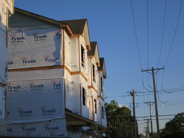 Townhouses under construction in St. Louis' Grove neighborhood. - PHOTO COURTESY OF FLICKR/PAUL SABLEMAN