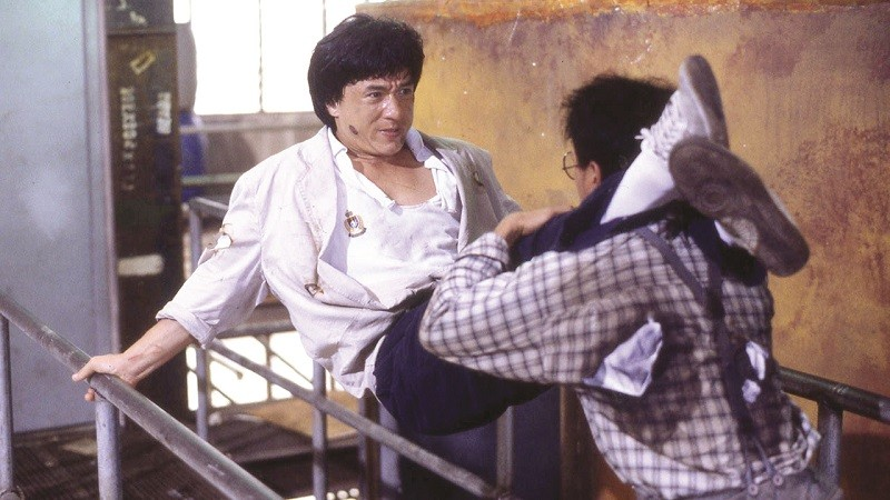 Jackie Chan fights his way through criminals and thugs in Police Story and Police Story 2 at the Webster Film Series. - (C) GOLDEN WAY FILMS LTD.