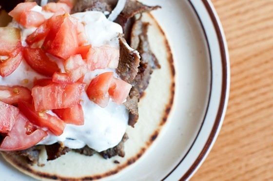 The classic gyro at Olympia Kebob House and Taverna - PHOTO BY CAROLINE YOO