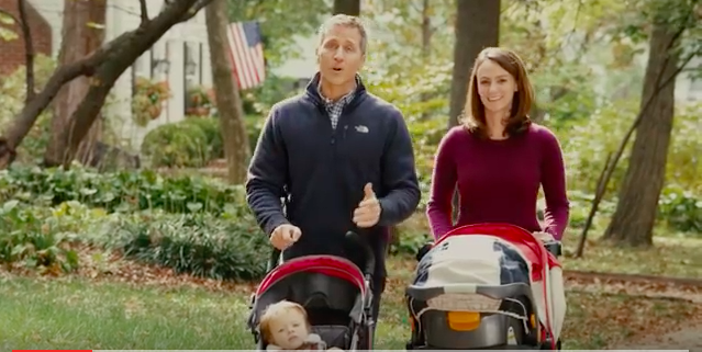 Sheena Greitens, shown with her husband in a campaign ad. - IMAGE VIA YOUTUBE