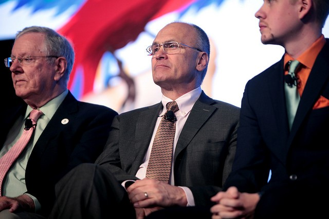 Andrew Puzder, speaking at the 2016 FreedomFest in Las Vegas. - PHOTO COURTESY OF FLICKR/GAGE SKIDMORE