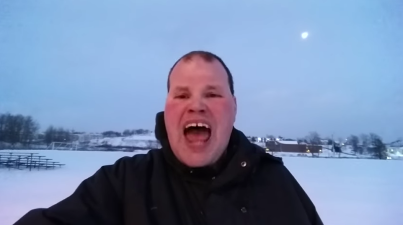 Nova Scotia's own Frankie MacDonald, amateur weatherman. - SCREENSHOT FROM THE VIDEO BELOW