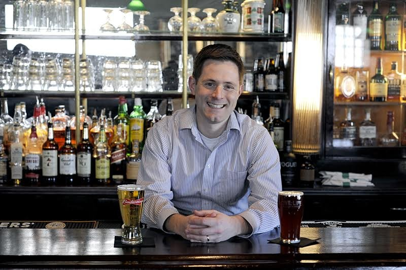Joe Jovanovich carries on his family's legacy at the Pat Connolly Tavern. - KELLY GLUECK