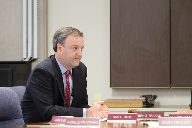 Sam Page, an anesthesiologist, will apparently give up his practice to serve as county executive. - LEXIE MILLER