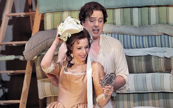 A scene from Opera Theatre St. Louis' 2010 production of The Marriage of Figaro, which opens the new season on Saturday. - KEN HOWARD FOR OPERA THEATRE ST. LOUIS