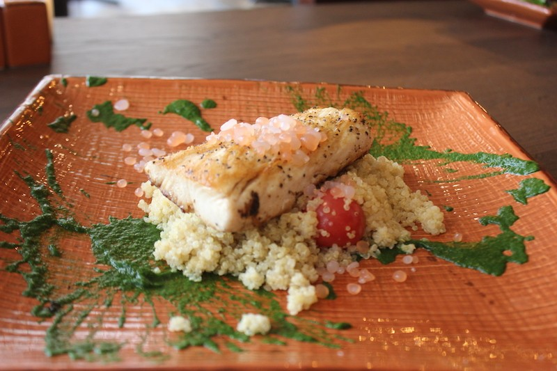 Mahi is served atop quinoa. - SARAH FENSKE