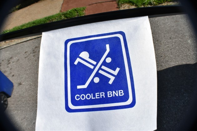 "Cooler BnB's logo features a skateboard and a bed for its ""board and board"" concept. - DANIEL HILL"