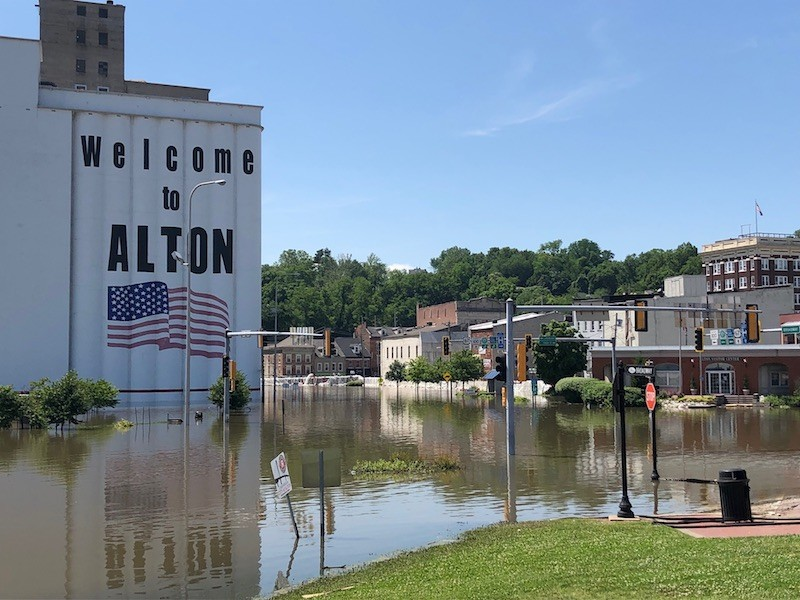 A rising Mississippi has washed out previously solid ground in Alton, Illinois. - UMI KHENESSI