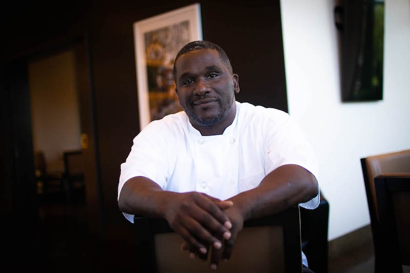 Even though he's now executive chef at Kingside Diner, Eric Prophete still finds himself working the line. - JEN WEST