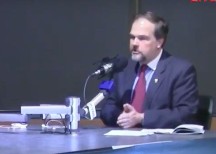 St. Louis County Councilman Mark Harder, shown in a screenshot from a visit with McGraw Milhaven. - SCREENSHOT VIA YOUTUBE
