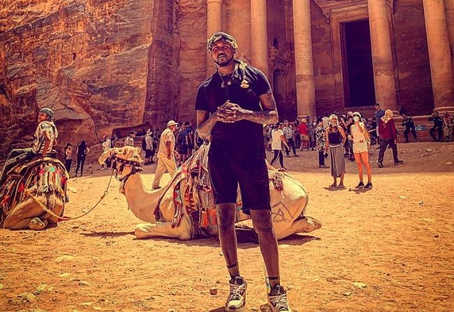 St. Louis rapper Tef Poe visits the Jordanian city of Petra during his trip as an ambassador to the country. - VIA THE ARTIST