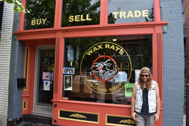 Gus Theodorow, Wax Rats' owner, in front of his Cherokee Street shop. - DANIEL HILL