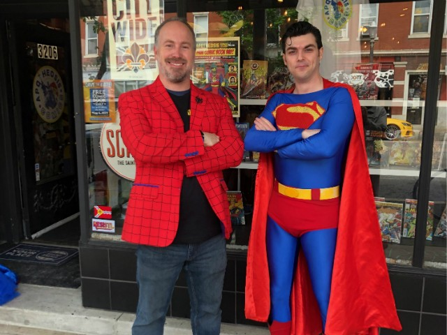 Martin Casas (pictured with Superman) solved a comic book caper. - PROVIDED PHOTO