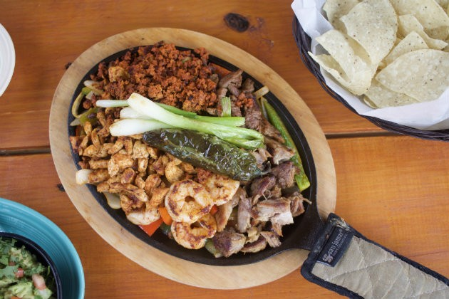 The fajitas are one of La Catrina's most popular Tex-Mex specialties. - CHERYL BAEHR