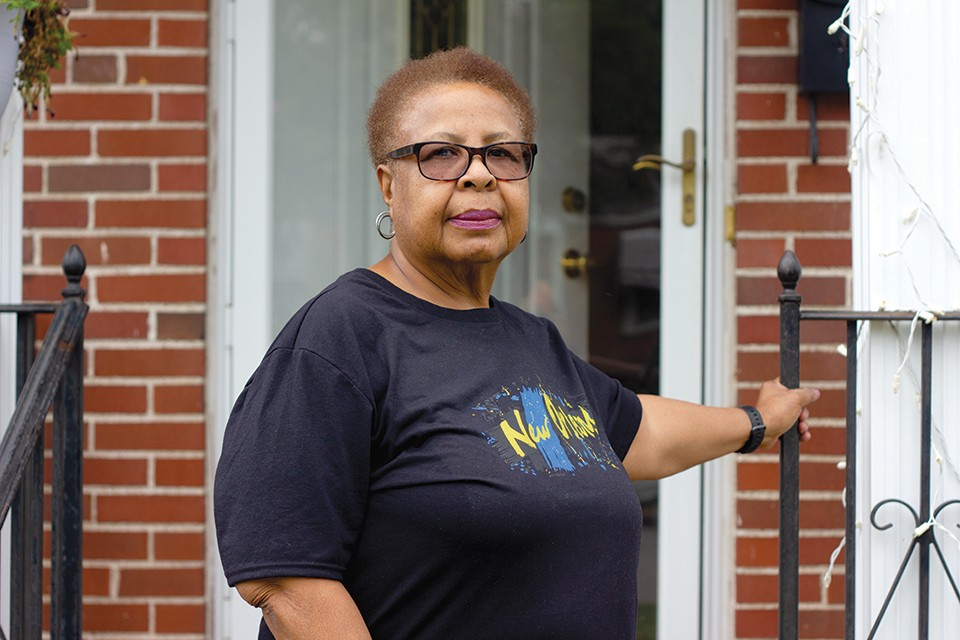 """Longtime University City resident Letha Baptiste says Novus isn't paying homeowners in the path of the project enough for her to leave her house. """"I'm not for it at all."""" - DANNY WICENTOWSKI"""