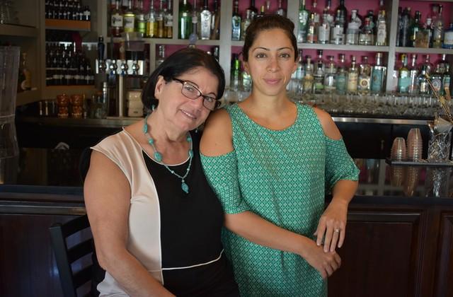 Hamishe (pictured left) and Natasha Bahrami. - LIZ MILLER