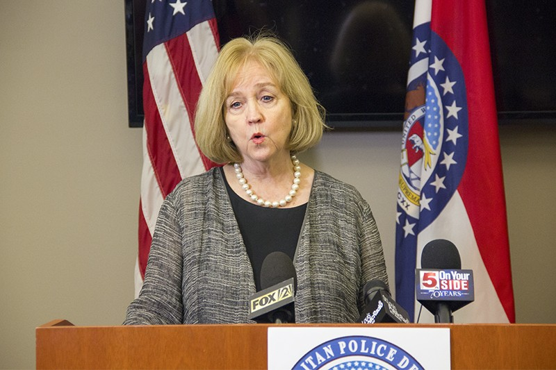 St. Louis Mayor Lyda Krewson delivered a press conference on the protests and police response on September 15, 2017. - DANNY WICENTOWSKI