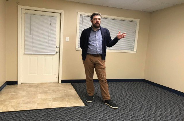 Watson standing in the space at 5228 Gravois Avenue. - SARAH BARABA