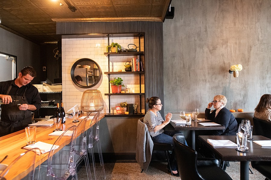 With its tiny, five-table dining room, Akar restricts chef-owner Bernie Lee to less space but has resulted in more creative freedom. - MABEL SUEN