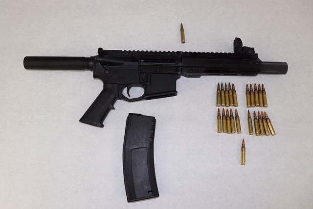This Matrix AR15 5.56/.223 semi-automatic was recovered during the incident, St. Louis police say. - COURTESY ST. LOUIS POLICE