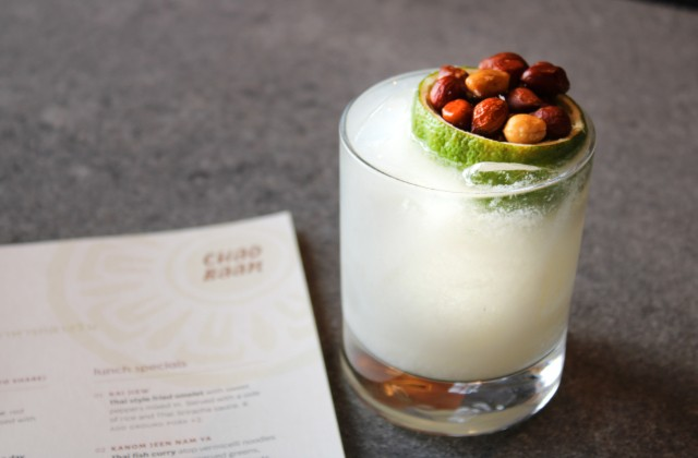 Chao Baan's My Thai is made with Plantation rum, lime and housemade peanut orgeat. - LAUREN SHELLEY