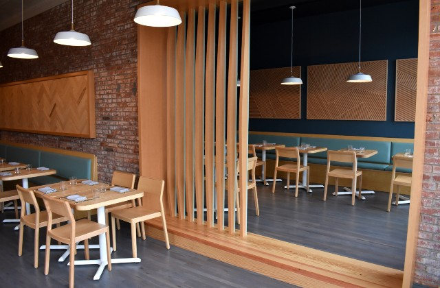 A view of both dining areas at Little Fox. - LIZ MILLER