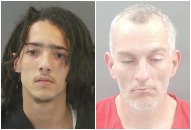 Matthew Warnack, left, and Joseph Adkins are facing felony charges. - ST. LOUIS CORRECTIONS