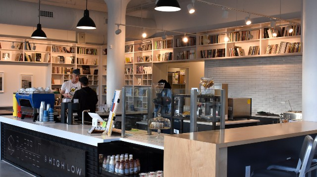 The cafe brings together coffee from Blueprint Coffee and eats from Bulrush chef-owner Rob Connoley. - ELLA FAUST